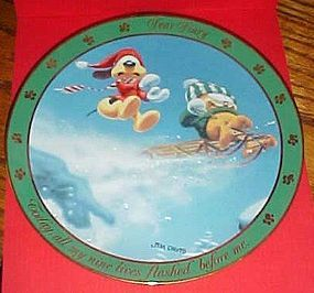 Garfield Dear Diary collector plate 9 Lives  with Odie