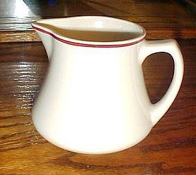Homer Laughlin Best China 4.5 inch pitcher red stripe