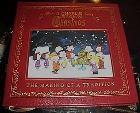 A Charlie Brown Christmas Book.A Charlie Brown Christmas First Edition Leather Bound Gold Leaf Book Item 1292312