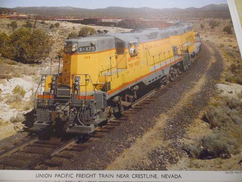 Union Pacific Freight Train near Crestline Nevada color ...