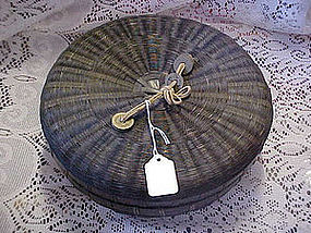 Old chinese woven sewing basket