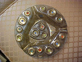 Higgins art glass ashtray