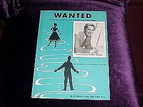 Wanted, photo of Perry Como on cover