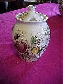 """Nasco """"rosevine"""" Jelly jar"""