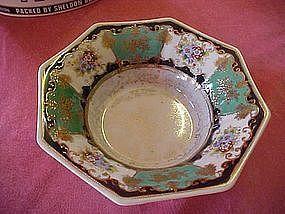 Elaborate decorative octagon bowl by Noritake