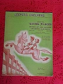 Jeepers Creepers, sheet music 1938