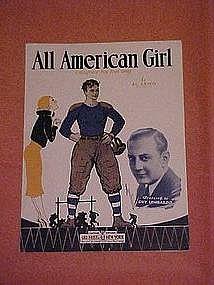 All American Girl, sheet music 1932