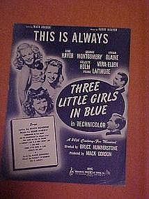 This is always, sheet music 1946