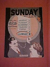 """Sunday"", music by Ned Miller, Bennie Krueger 1926"