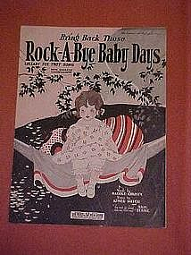 Bring back those Rock-A-Bye Baby Days, music 1924