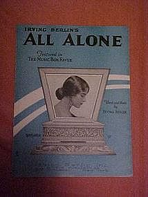All Alone, by Irving Berlin 1924