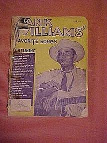 Hank Williams favorite songs folio 1953