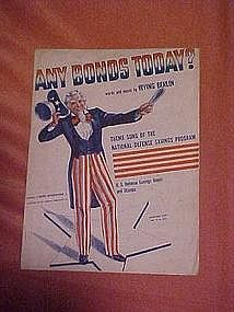 Any Bonds Today? National Defense theme song 1941