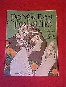 Do You Ever Think Of Me,  1920