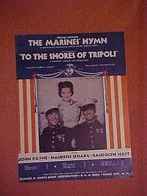 """The Marines Hymn featured in """"To the shores of Tripoli"""""""