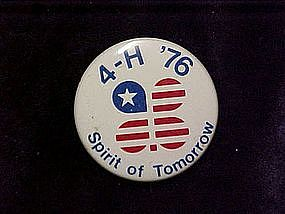 4-H 76 spirit of tomorrow, pin back button
