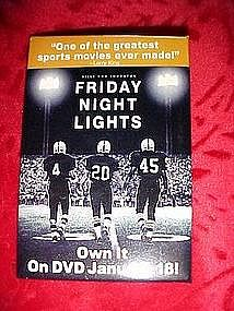 Friday Night Lights, promotional pin back button