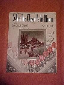 When the clover is in bloom, music 1912