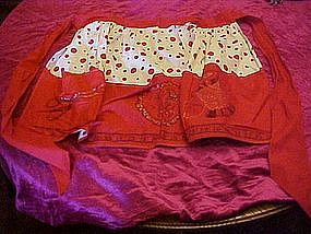 Vintage cotton print sewing apron