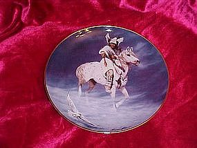 Spirit of the Winter Hawk, Hermon Adams collector plate