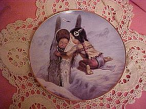 Bundle Up, Perillo Christmas Plate 1990