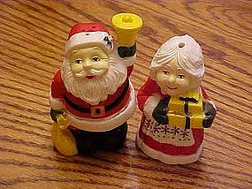 Mr. and Mrs Claus salt & pepper shakers