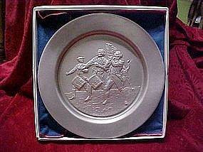 Pewter collector plate, The spirit of 76
