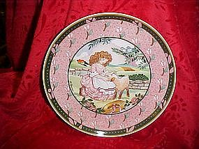 Mary had a little lamb, Renee Faure collector plate