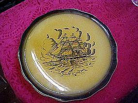 Crown Devon Fieldings plate, A Frigate in full sail