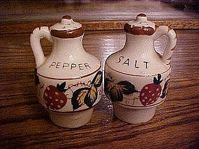 Nasco strawberry salt and pepper shakers