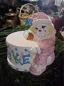 Circus clown and cookie drum, cookie jar
