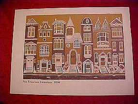 San Francisco Victorian Houses print, 1890
