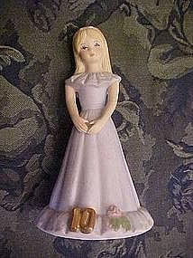 "Enesco ""growing up"" birthday girls ,blonde age 10"