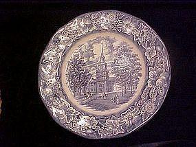 Liberty Blue dinner plate, Staffordshire England