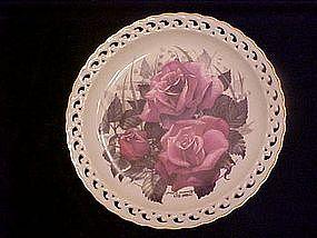 Blue Moon, American Rose Garden plate, Paul J. Sweaney