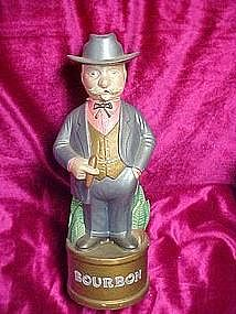 Hand painted , southern gentleman Bourbon decanter
