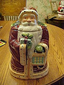 Old world Santa cookie jar made for Nonni