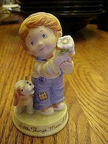 """Avon, """"Little things mean a lot"""" bisque figurine"""