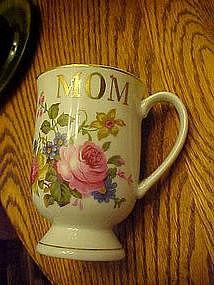 """Special """"Mom"""" floral pedestal mug"""