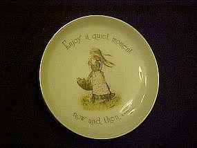 Holly Hobbie porcelain coaster, Enjoy a quiet moment...