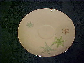 Harmony House china, snowflake pattern saucer