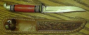 Western ,WWII Theatre fixed blade knife with sheath