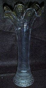 Antique swing vase, ribs and ripples