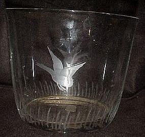 Imperial glass, Mallards ice bucket