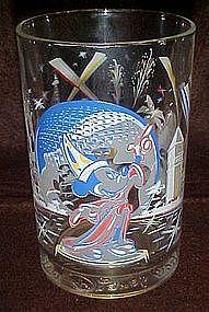 Walt Disney World 25th anniversary glass, Mickey Mouse