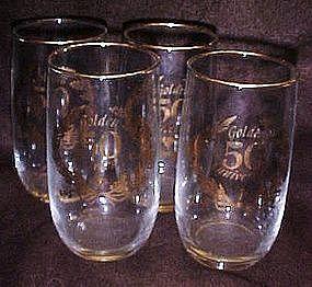50th golden wedding anniversary  glasses / tumblers