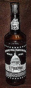 1953 Presidential inauguration souvenir bottle