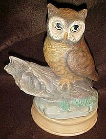 "Large 10 1/4""  ceramic owl figurine"