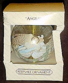 Hallmark designer keepsake 1983  ornament, ANGELS