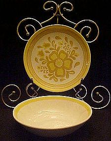 Damsel pattern b/b plates and cereal bowls by Royal